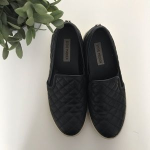 Steve Madden Ecentrcq Sneaker Slip on Shoe 9 Black